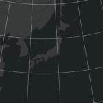 アルベルス正積円錐図法(日本中心)