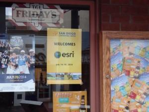Welcome Esri ポスター2