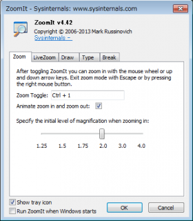 ZoomIt オプション