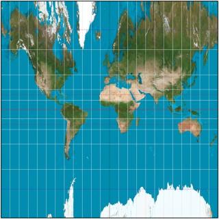 心射円筒図法(Wikipedia より引用)