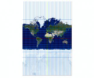 ArcMap で表現したメルカトル図法