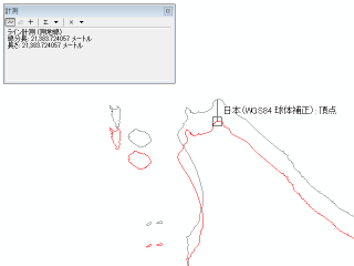 宗谷岬(44.5°N) 21,384m