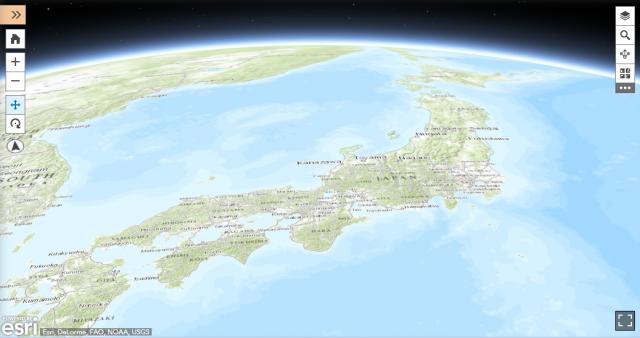 特殊図(ArcGIS Online より引用)