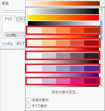 ArcGIS Pro でしか表示されない配色(5分類)