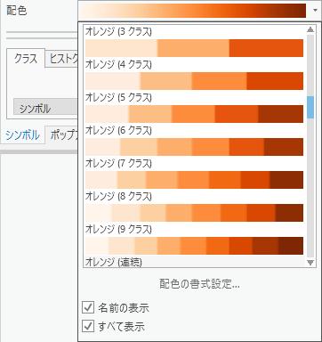ArcGIS Pro の配色分類