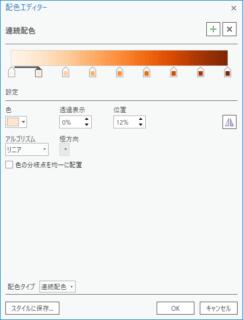 ArcGIS Pro の連続配色