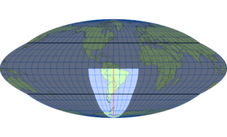 ホモロサイン図法(標準緯線:西経60度)