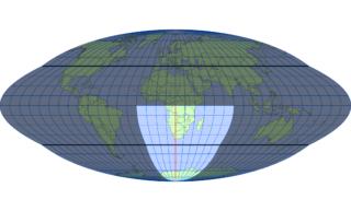 ホモロサイン図法(標準緯線:東経20度)