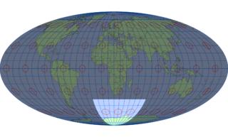 モルワイデ図法(標準緯線:東経20度)