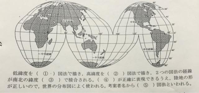 極東に適した断裂ホモロサイン図法