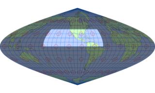 サンソン図法(標準緯線:西経100度)