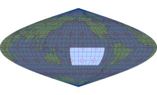 サンソン図法(標準緯線:西経160度)