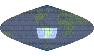 サンソン図法(標準緯線:西経60度)