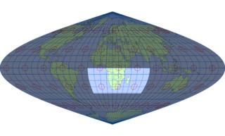サンソン図法(標準緯線:東経20度)