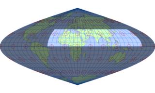 サンソン図法(標準緯線:東経30度)