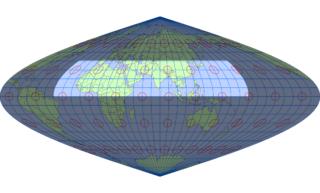 サンソン図法(標準緯線:東経80度)