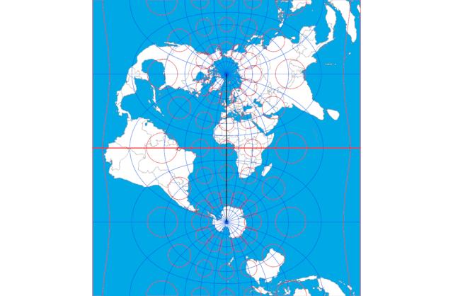 横メルカトル図法 NGA 2014